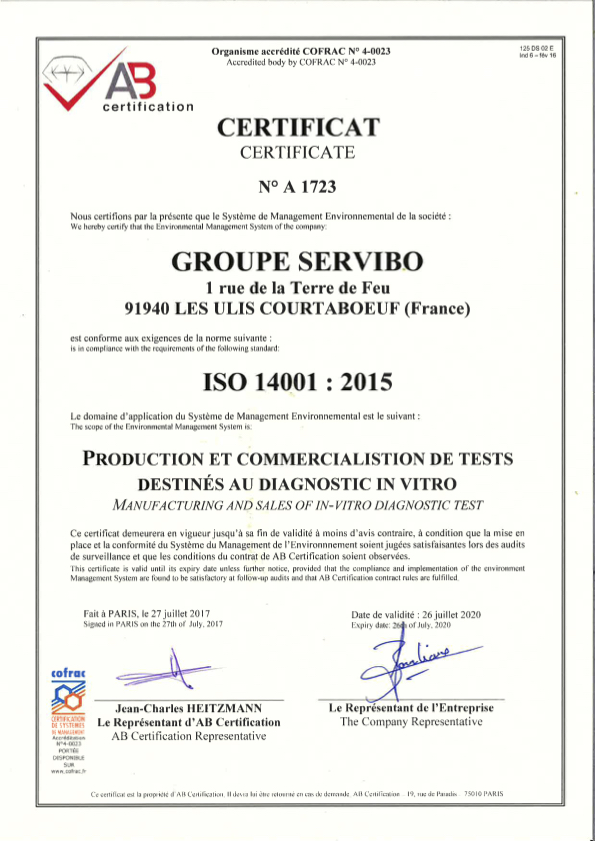 34. Certificat ISO 14001